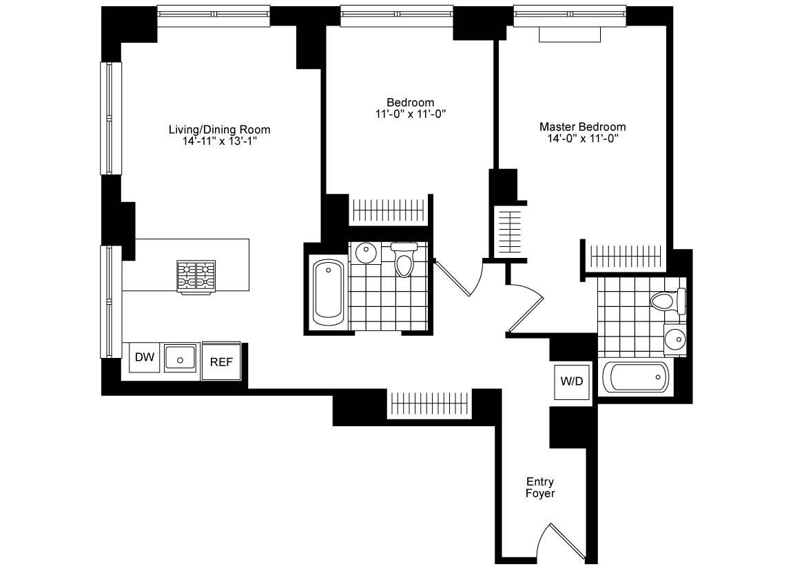 Corner 2 Bedroom  2 Bath Luxury Apartment Floor Plan   5 705 AVAILABLE NOW. Related Rentals   Luxury Apartments in NYC  Boston  Chicago  DC