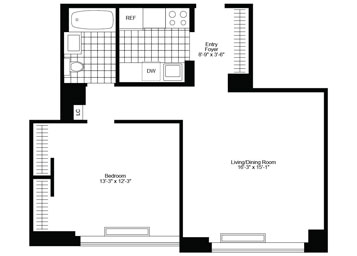 Wonderful 1 Bedroom/1 Bathroom apartment featuring bright southern exposure, great closet space and a gracious layout.