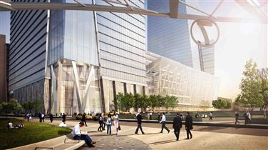 View of 30 Hudson Yards Lobby from New No. 7 Subway Station, ©VH - 06/2012
