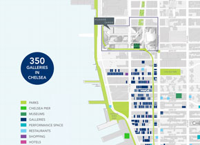 Hudson Yards, Map - Culture Along the High Line, 01/2014
