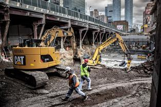 No. 7 Subway Construction at W. 34th St, ©Clayton Price- 02/2012