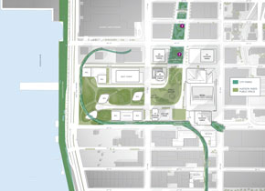 Hudson Yards, Site Plan, Open Space and Parks, 01/2014