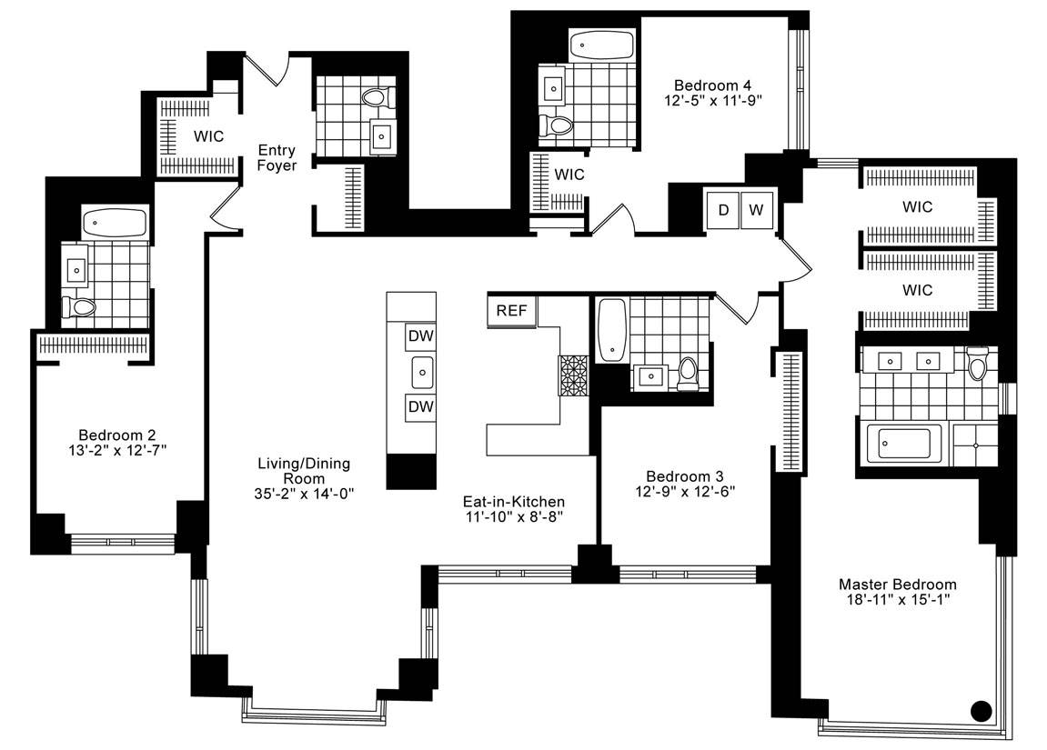new york apartments tribeca 4 bedroom apartment for rent
